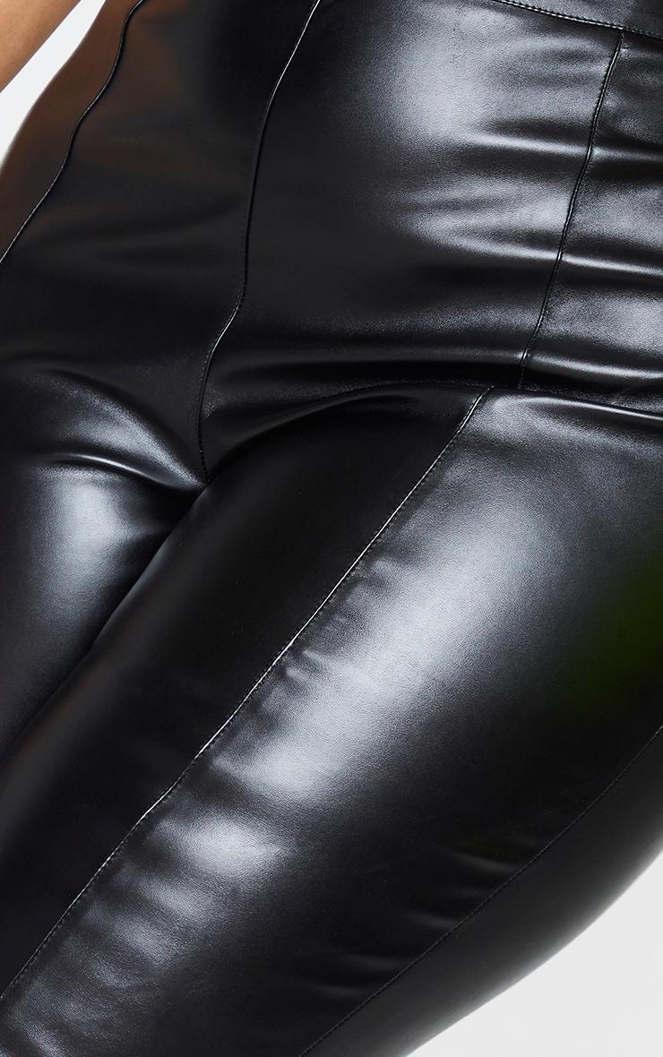 Plus Daysha Black Cropped Faux Leather Pants 4