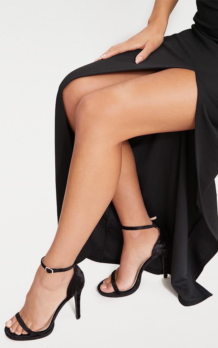 699da58b81d7 Black Bandeau Folded Detail Extreme Split Maxi Dress image 5