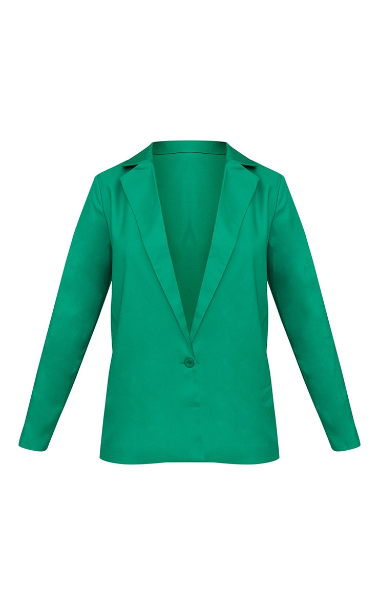 Bright Green Oversized Boyfriend Fit Blazer 3