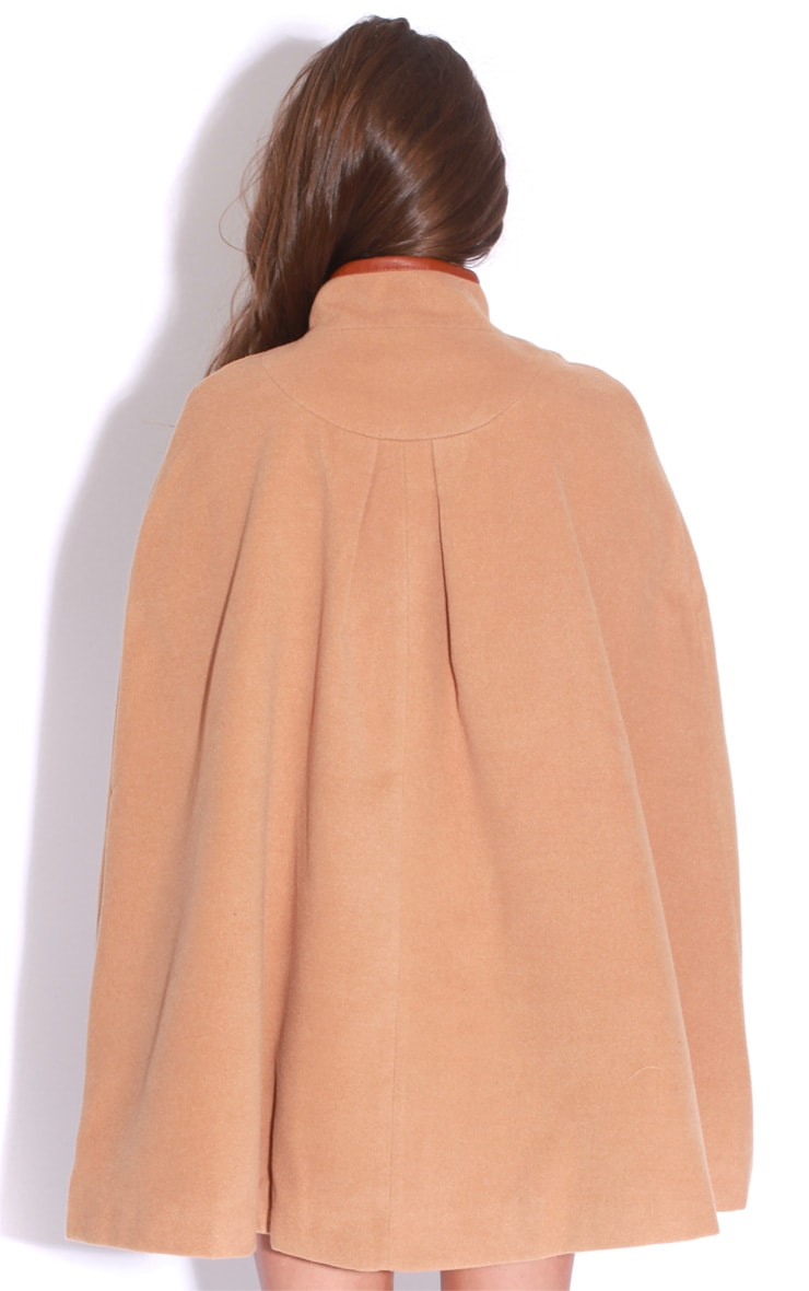Renata Beige Buckle Cape Coat 2
