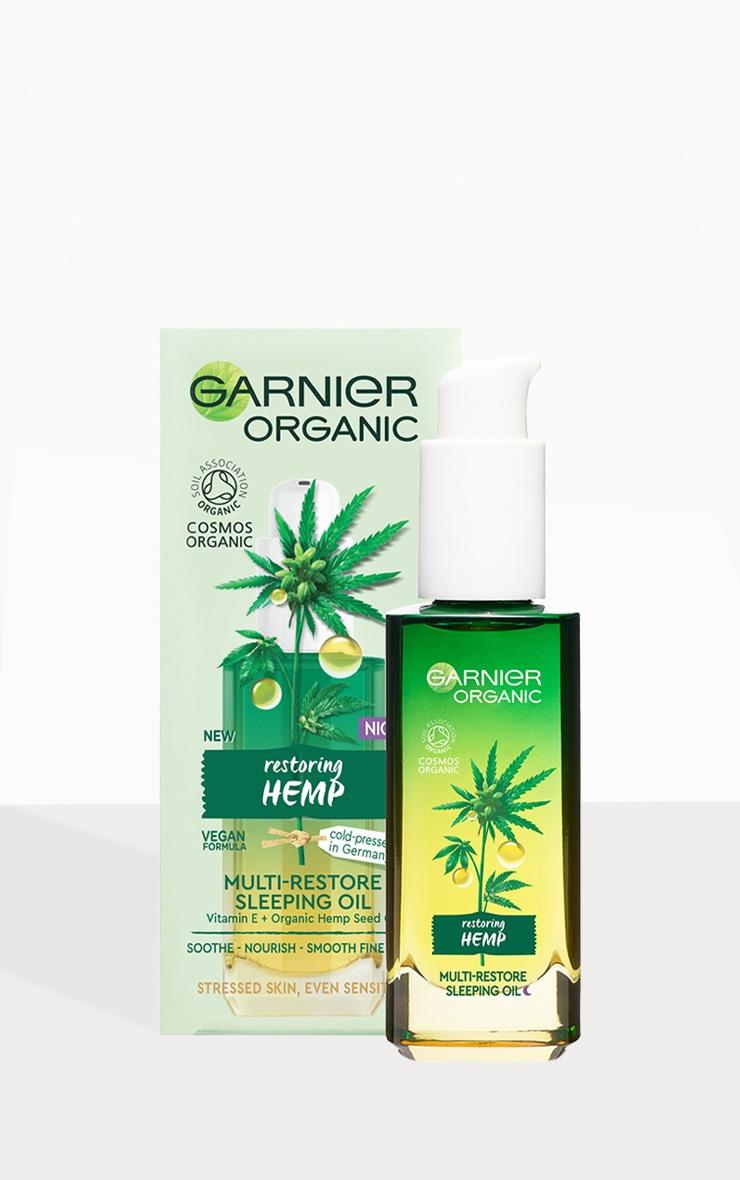 Garnier Organic Hemp Multi-Restore Facial Sleeping Oil 30ml 2