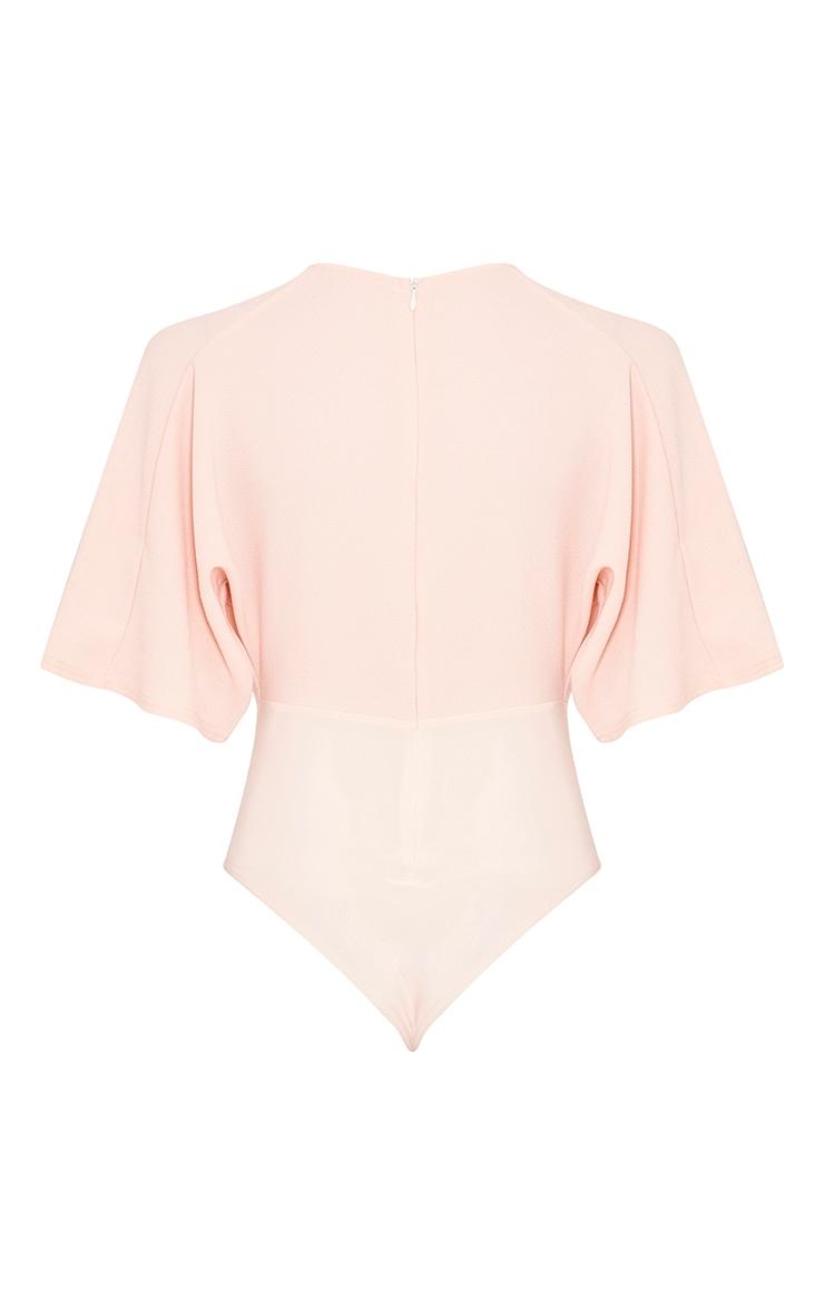 Tiegan Nude Wide Sleeve Plunge Bodysuit 4