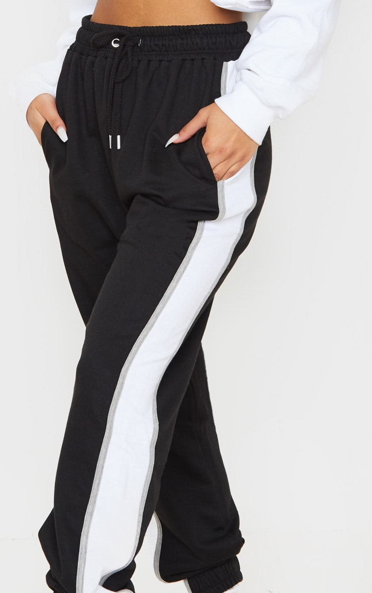 Black Multi Side Stripe Joggers 5