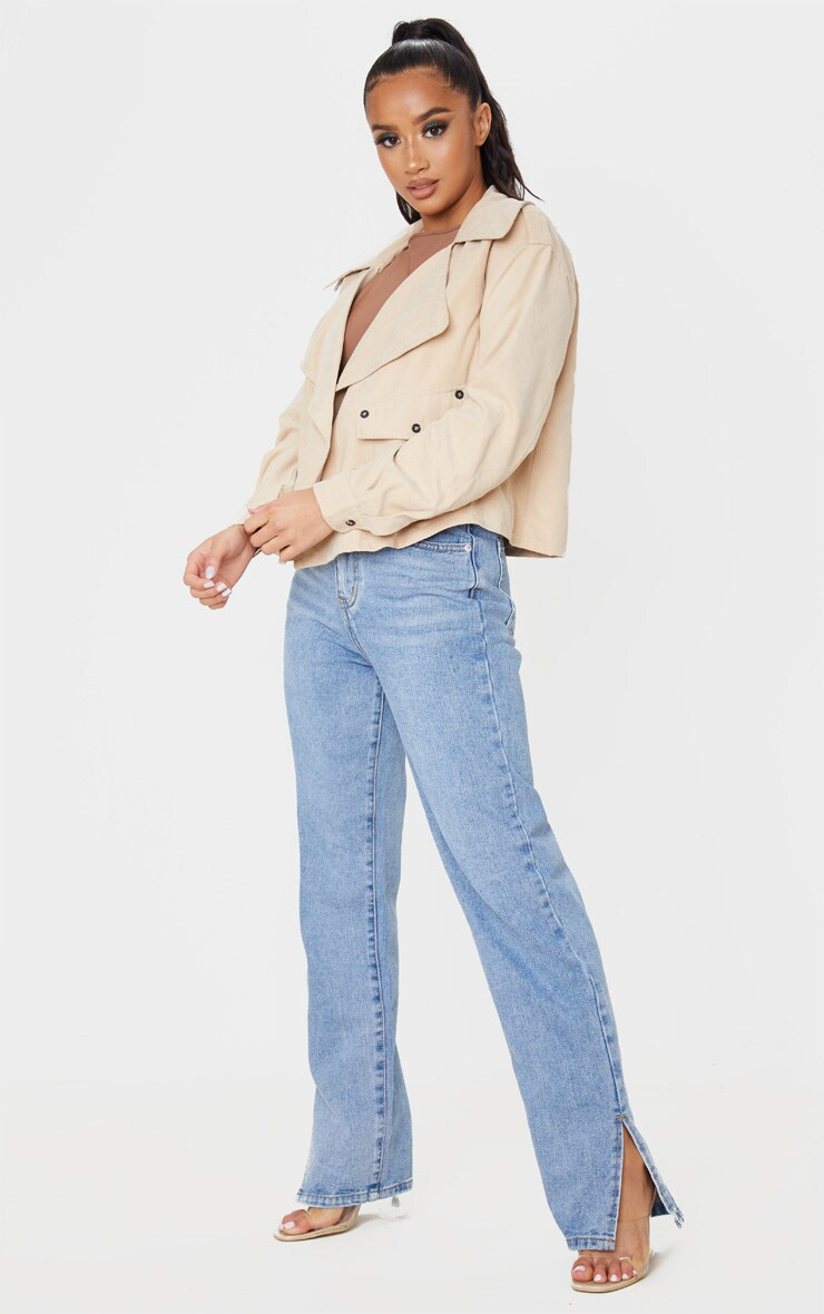 Petite Stone Cropped Trench Coat 4