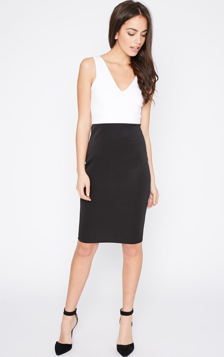 Adella Black Bodycon Panel Dress 3