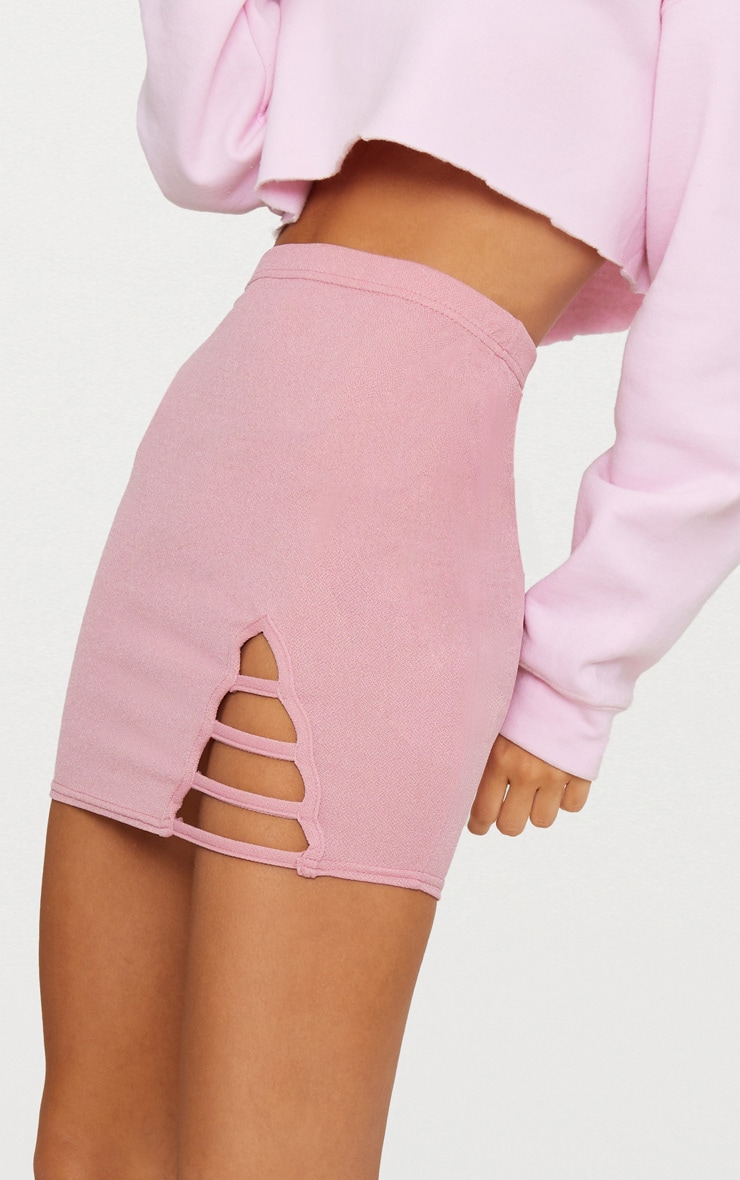 Rose Ladder Detail Mini Skirt  6
