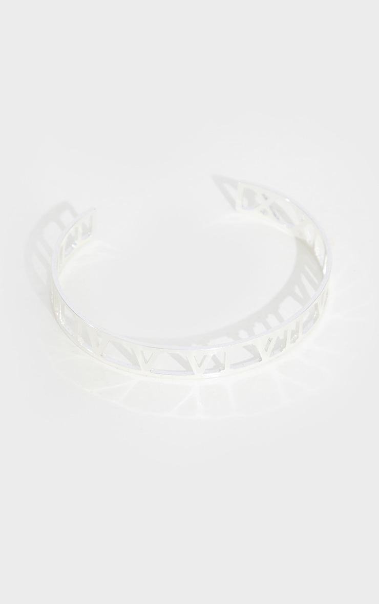 Silver Numeral Cut Out Bracelet 2