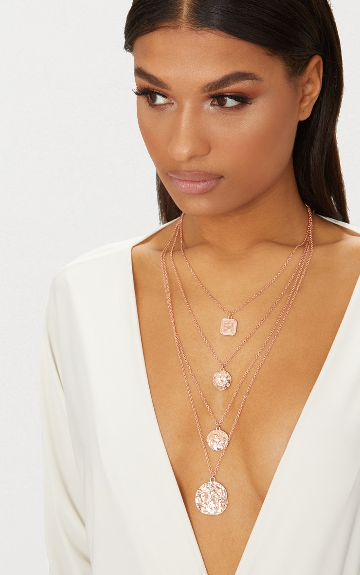 Rose Gold Multi Layer Necklace 1
