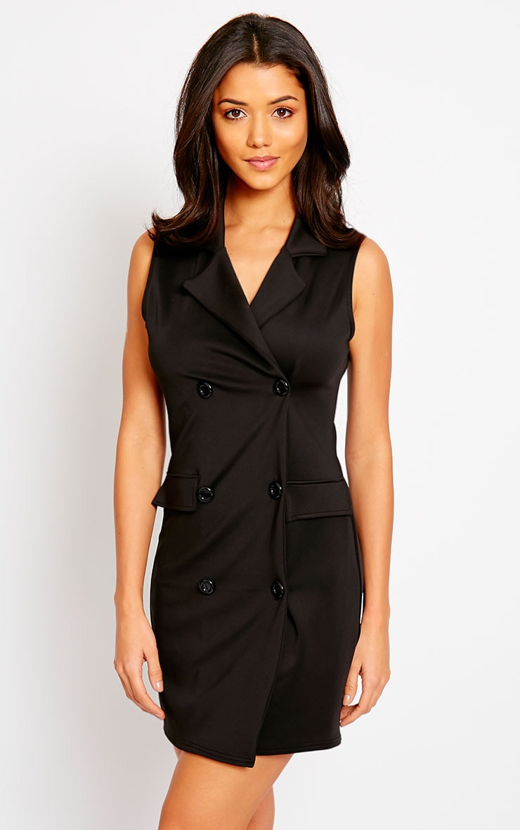 Thea Black Blazer Dress 1