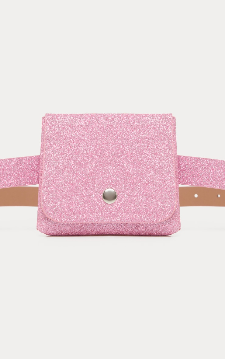 Pink Glitter Mini Pouch Belt Bag 2
