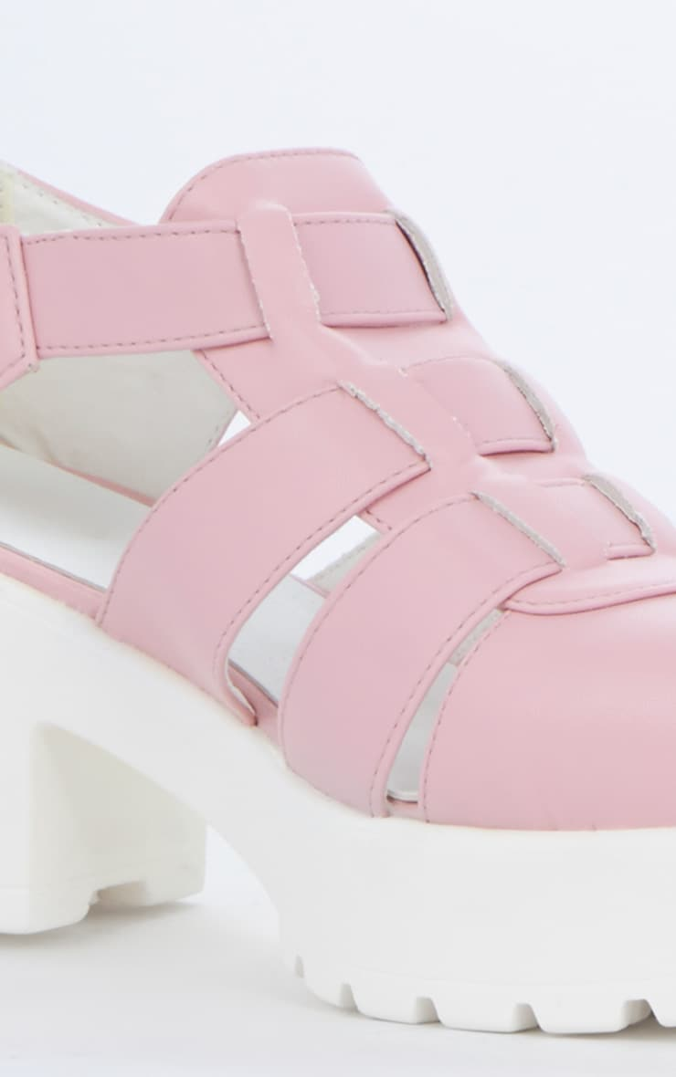 Rachel Pink Cut Out Cleated Shoe 4