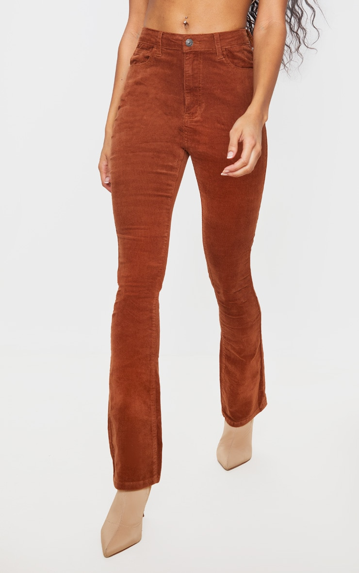 Chocolate Cord Flare Jeans 2
