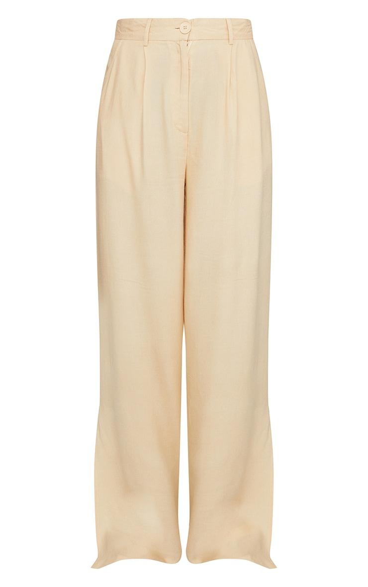 Stone Woven Wide Leg Extreme Split Trousers 5
