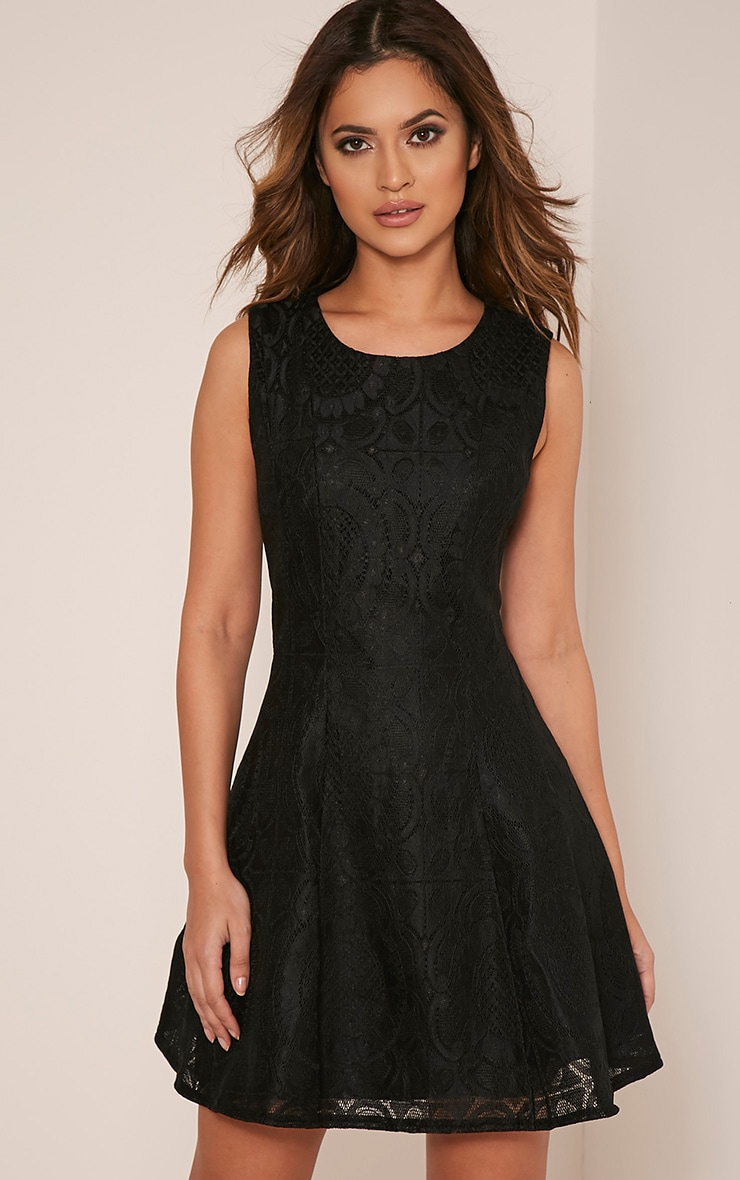 Brianna Black Baroque Prom Dress 1
