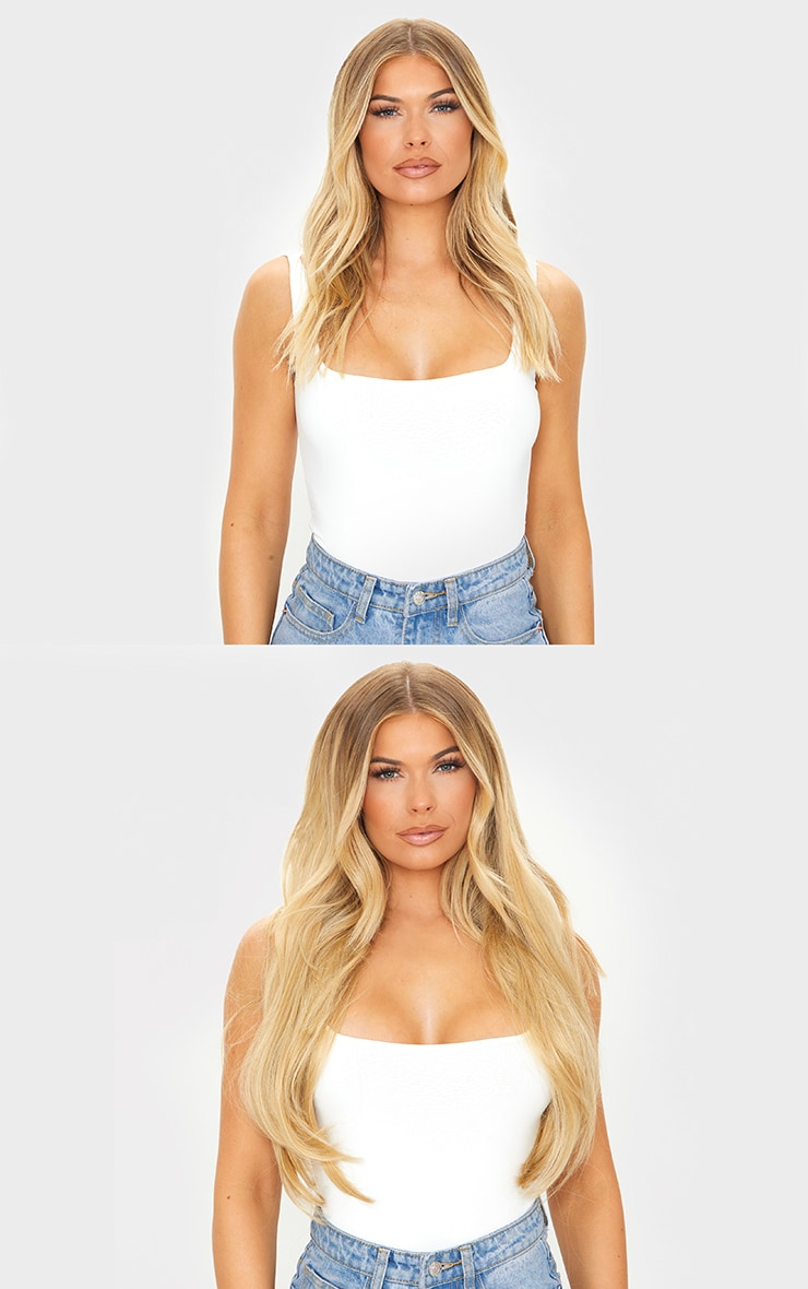LullaBellz Super Thick 22'5 Piece Straight Clip In Hair Extensions Golden Blonde 3
