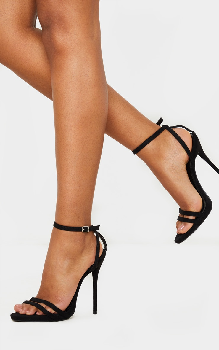 Black High Strappy Sandal 2
