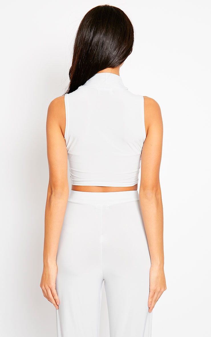 Remi Grey Soft Touch Crop Top 2