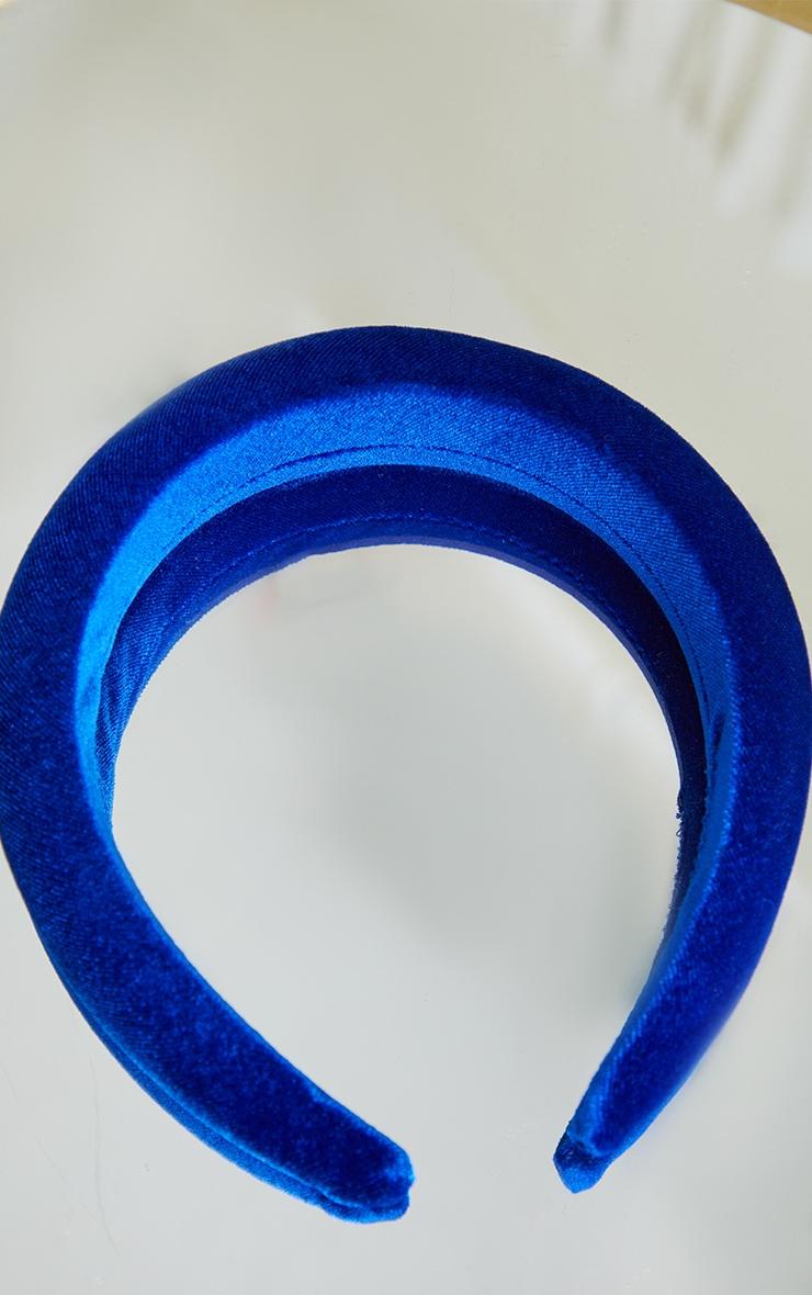 Cobalt Blue Velvet Padded Headband 2