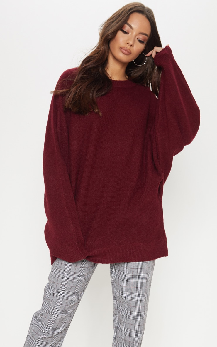 Maroon Knitted Sweater  4