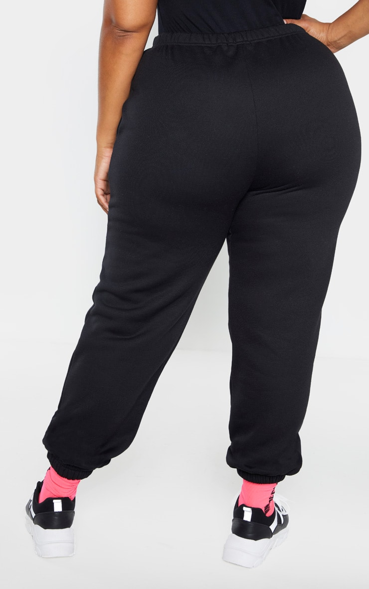 Plus Black Casual Jogger 4