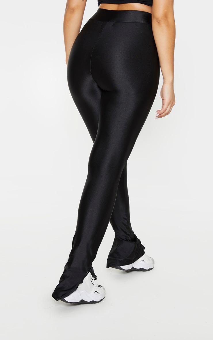 Black Zip Hem Disco Leggings 3