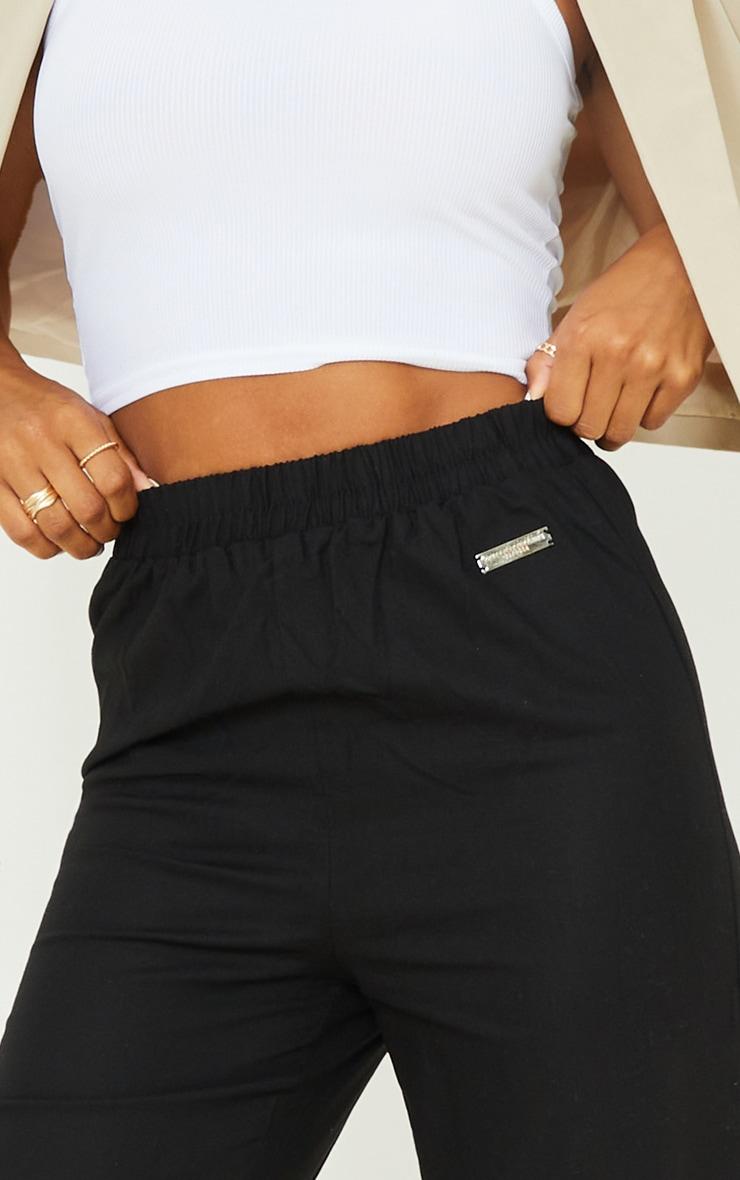 PRETTYLITTLETHING Black Wide Leg Trousers 5
