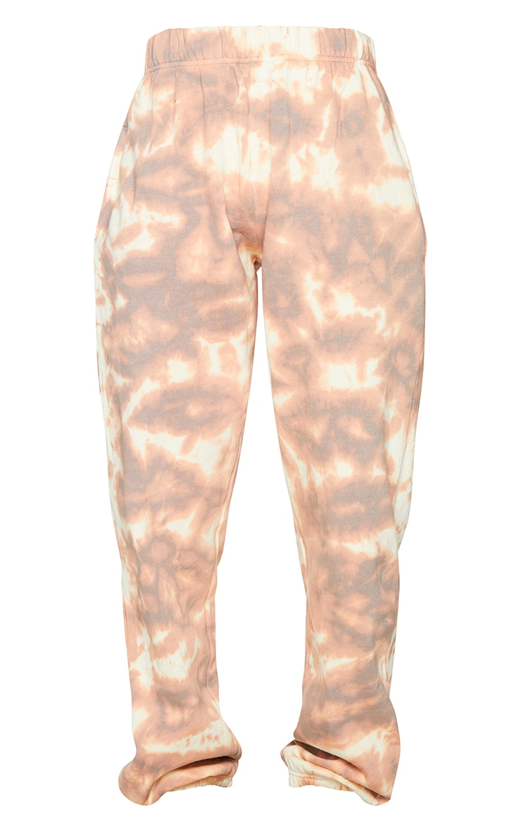 Light Brown Tie Dye Cuffed Joggers 5