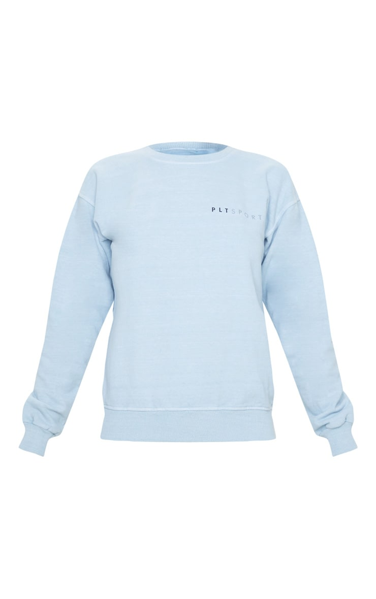 PRETTYLITTLETHING Blue Sports Sweat 3