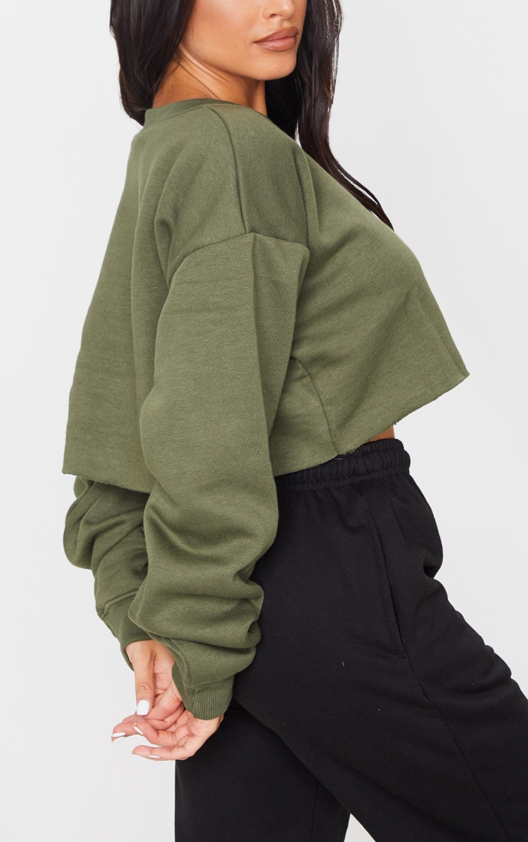Khaki Ultimate Cropped Sweater 4