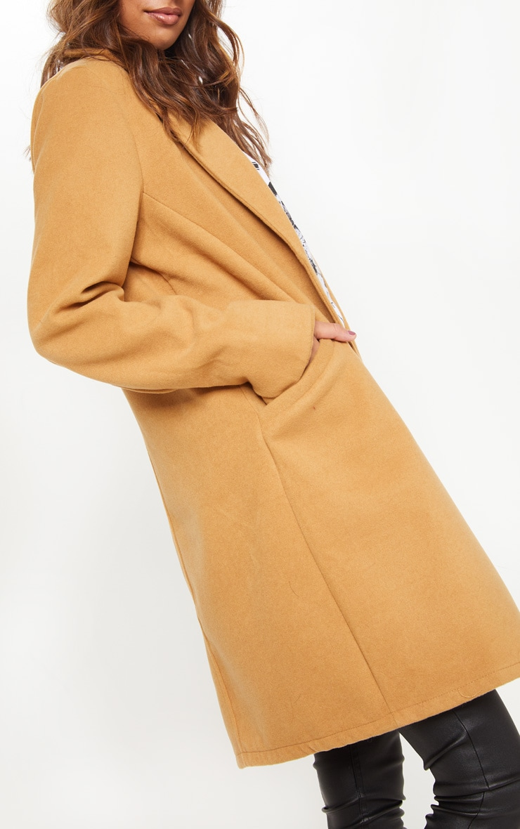 Camel Pocket Front Coat  5