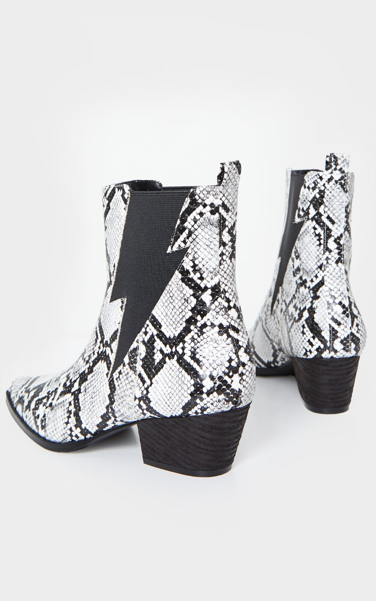 Bottines western pointues serpent 4