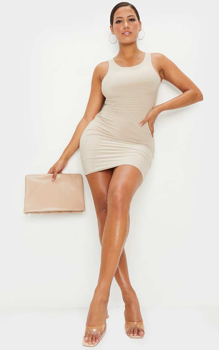 Shape Stone Slinky Sleeveless Bodycon Dress 4