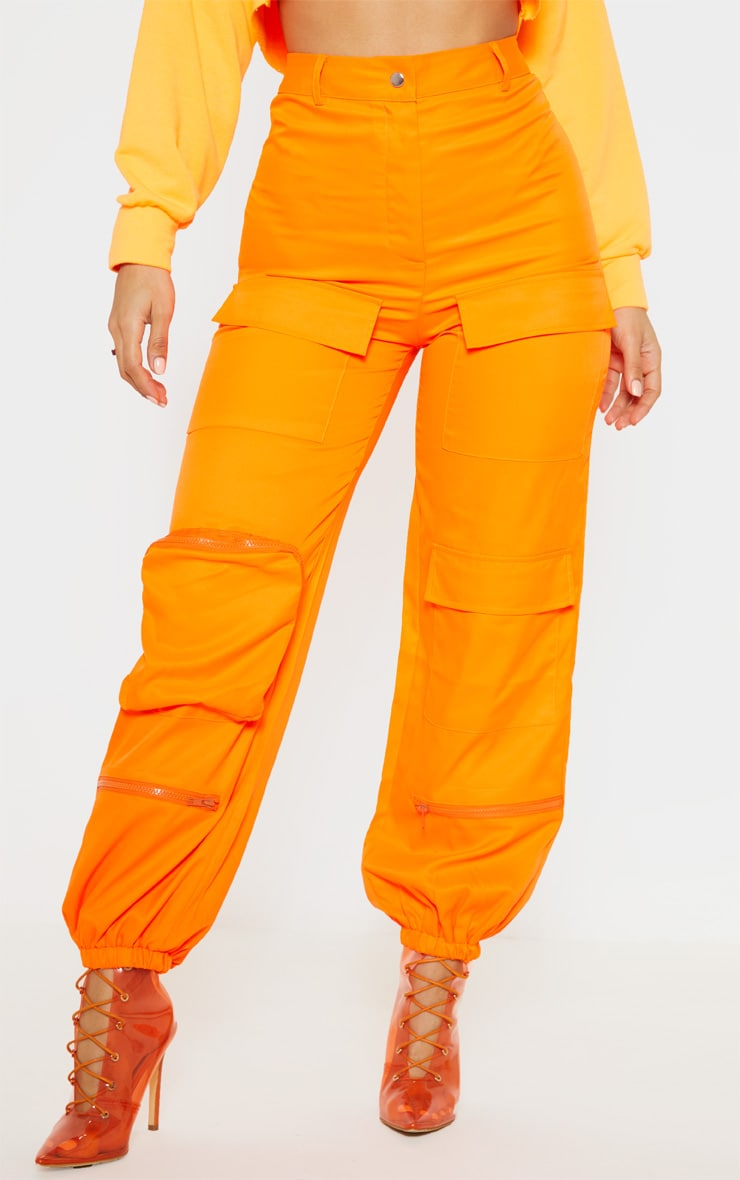 Orange 3D Pocket Cargo Trouser 2