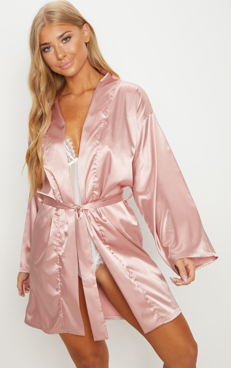 Newest Online Many Kinds Of Pale Pink Bridesmaid Embroidered Back Satin Robe Pretty Little Thing JWYHtHVJ