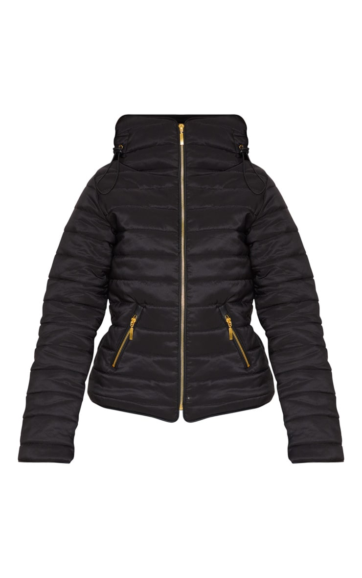 Mara Black Puffer Jacket 3