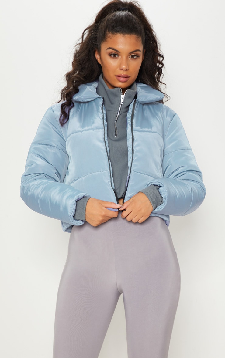 Blue Cropped Puffer 4