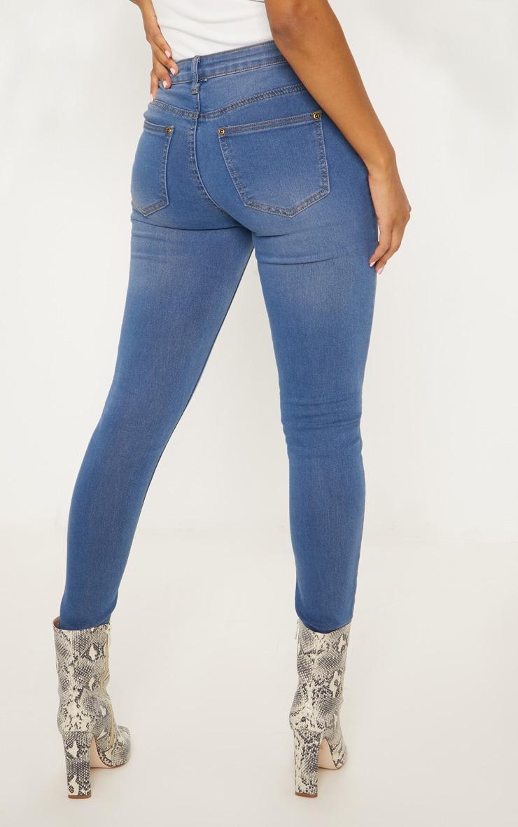 Mid Wash Slim Leg Jeans 4
