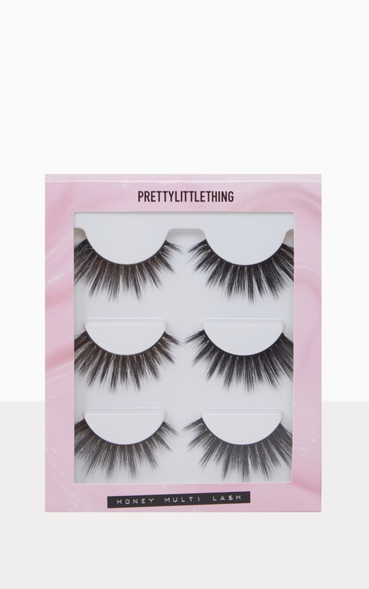 PRETTYLITTLETHING Honey Lash 3 Pack  3