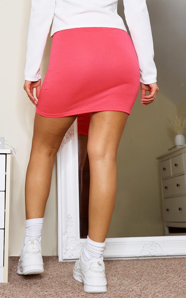 Coral Basic Jersey Mini Skirt 3