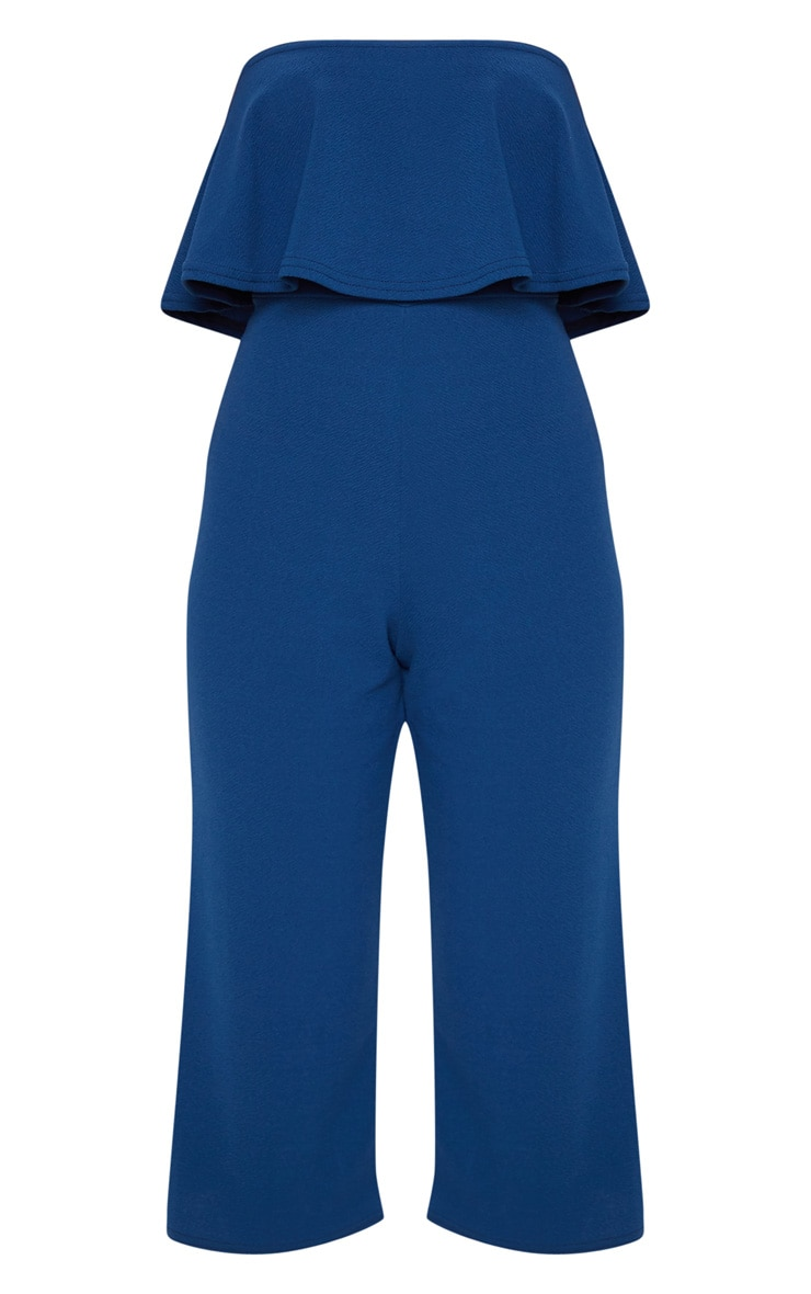 Midnight Blue Double Layer Culotte Jumpsuit 3