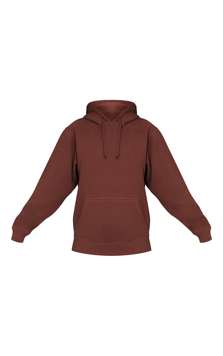 Chocolate Ultimate Oversized Washed Hoodie 5