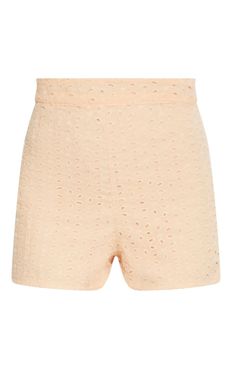 Peach Broderie Anglaise Shorts 3