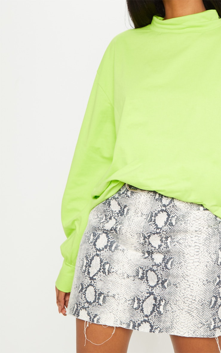 Neon Lime Oversized Roll Neck Top 6