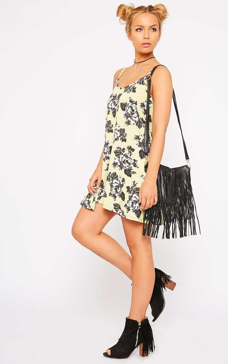 Meggie Lime Floral Swing Dress 3