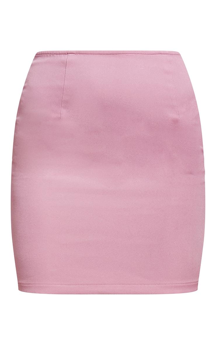 Dusty Rose Woven Mini Skirt 6