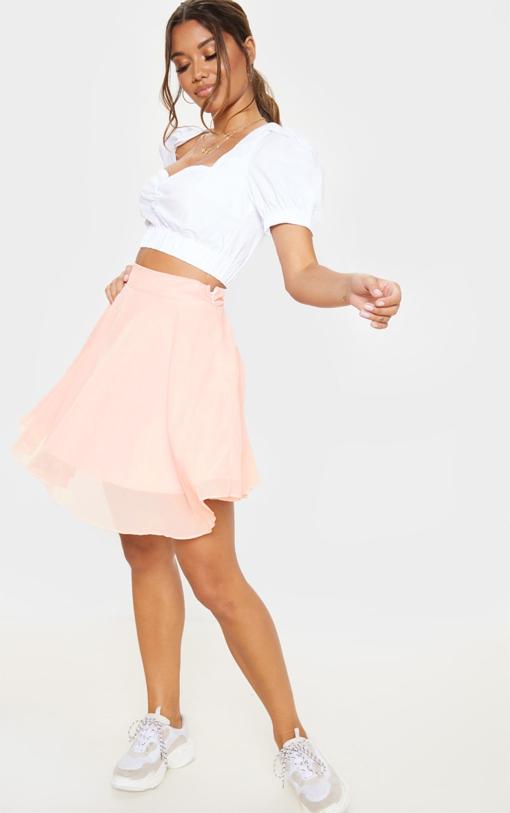 Dusty Pink Lightweight Woven Skater Skirt 5