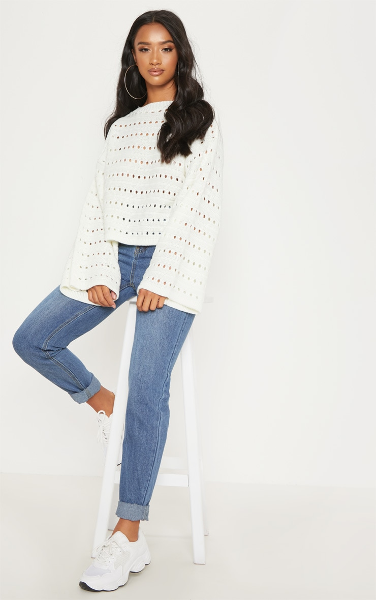 Petite Cream Flared Sleeve Jumper 4