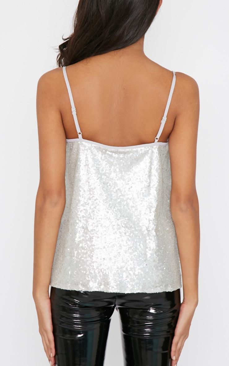 Sonia Silver Sequin Vest 2