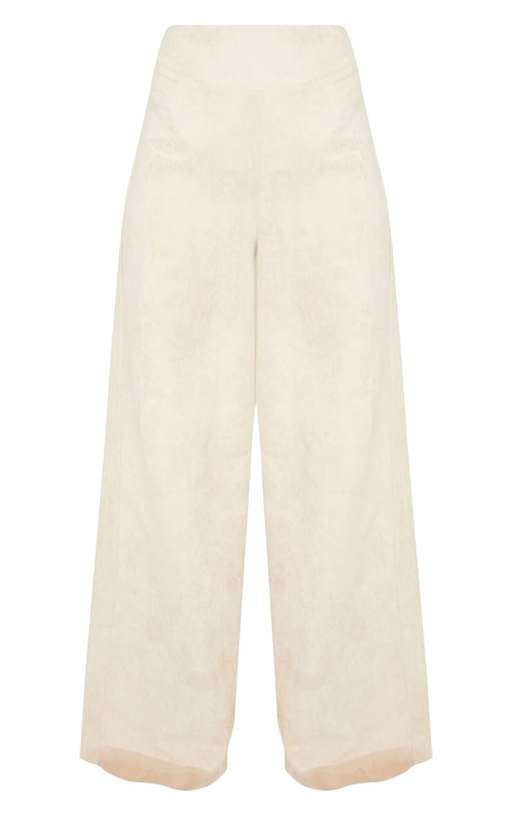 Tall Stone Faux Suede Wide Leg Pants 3