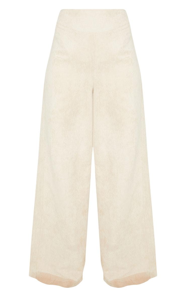 Tall - Pantalon en suédine gris pierre à jambes évasées 3